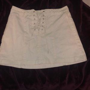 White Mini skirt from Pacsun